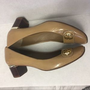 "Tory Burch 1.5"" Heel Patent Caramel  Color Pumps"
